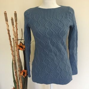LOFT | soft blue chunky knit sweater casual work